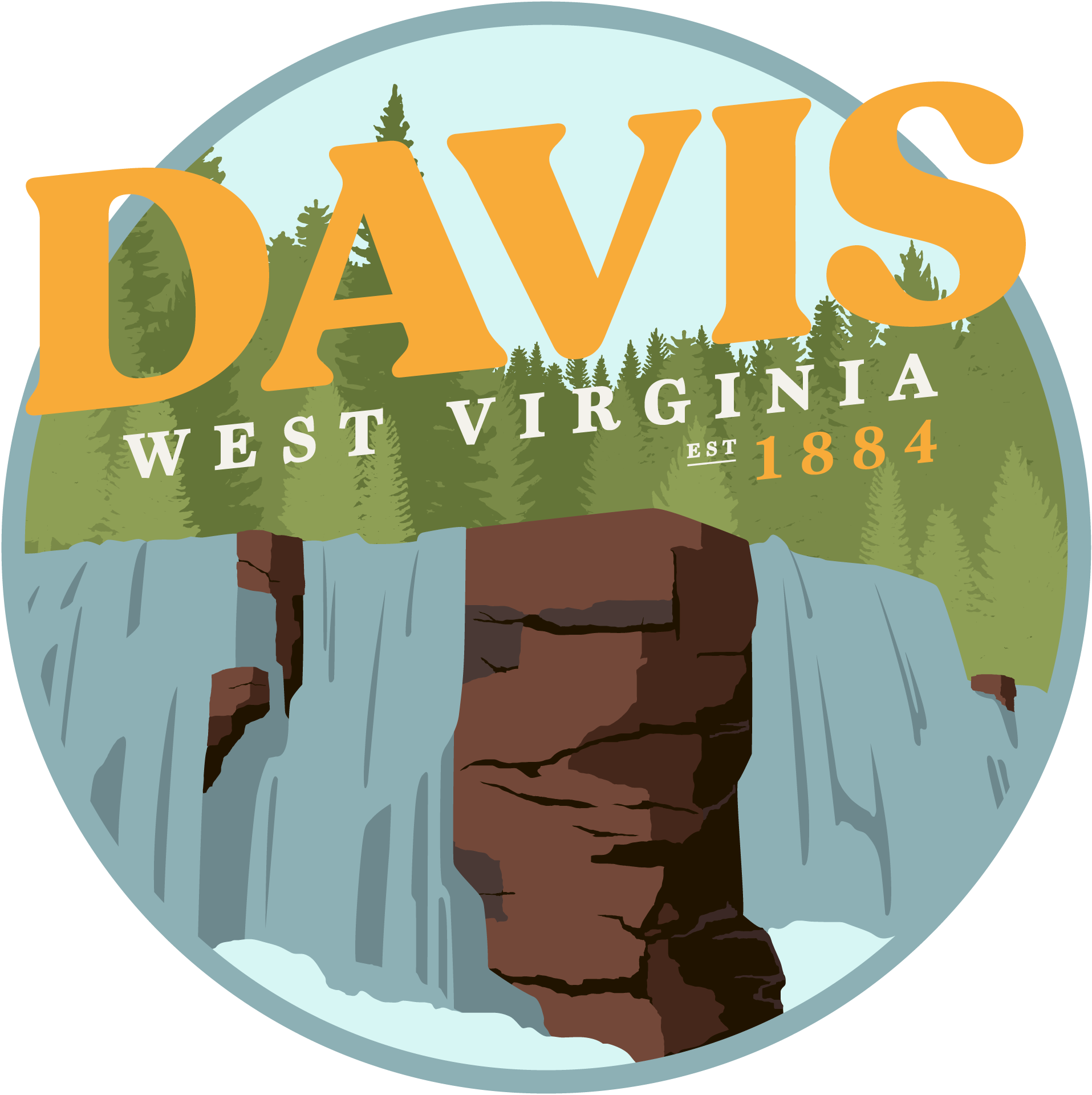 Town of Davis West Virginia Logo